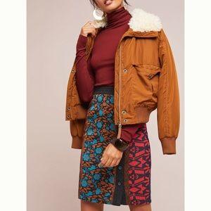 Anthropologie Jacquard Pencil Skirt